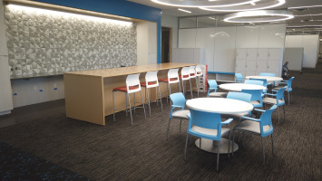 Informal cafeteria and meeting area